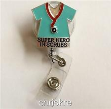 Nursing Doctor Gift ID Tag Lanyard Retractable Reel Holder RN LPN MD Tech Scrubs