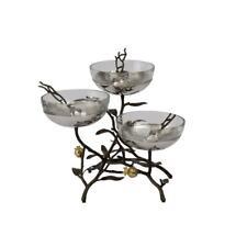 Michael Aram Pomegranate Triple Bowl Set with Spoons - 175325