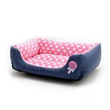 Dog Pet Warm Soft Washable Basket Bed Cushion With Fleece Lining