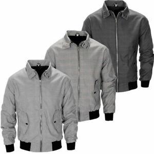 Raiken Prince Of Wales Check Harrington Jacket Mens Size