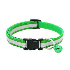 2X Pet Puppy Cat Kitten  Soft Glossy Reflective Collar Safety Buckle with Bell