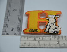 "LETTER H SNOOPY ALPHABET 1 1/2"" 4cm Sew Iron on Cloth Patch Applique Embroidery"