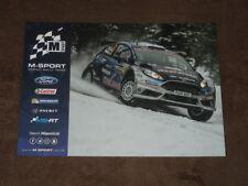 Teemu SUNINEN / Eric CAMILLI - Ford Fiesta M-Sport Team, Karte/card 15x21 cm