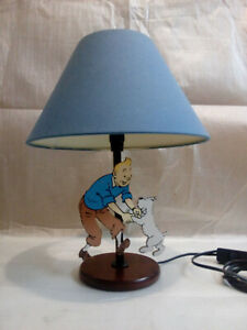 Tintin et Milou Lampe de chevet Trousselier Hergé vintage 1992 Etat de Marche