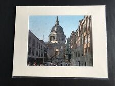 ST PAUL's CATHEDRAL SCENE, LONDON Mounted Giclee Print