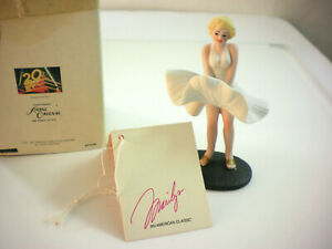 """Marilyn Monroe Figurine seven year itch VTG 3 3/4 """" H hand painted bisque Ltd."""
