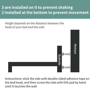 Anti Shake Adjustable Length Self Adhesive For Room Wall Fixing Bed Frame Tool