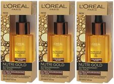 LOreal Nutri Gold Extraordinary Face Oil (3 x 30ml) Ultra Nourishing