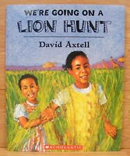 """Scholastic Paperback Children's Book 18 x 14 1/2"""" - We're Going on a Lion Hunt"""