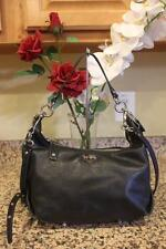 Coach 14304 BLACK Madison Leather Hailey Convertible Hobo Handbag Purse (PU150