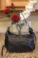 Coach 14304 BLACK Madison Leather Hailey Convertible Hobo Handbag Purse (PU150