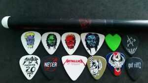 Picks Metallica set of 12 diferent picks Metallica & 1 drumstick