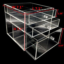 NEW Large Jewelry clear Acrylic case 3 Multipurpose drawer Organizer Box