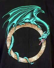 vtg 80s 90s Jerzees retro Dragon T-Shirt Fantasy D&D MTG role playing games XL