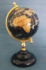 BLUE LAPIS GEMSTONE GLOBE WORLD STAND SMALL TABLE TOP DESK SIZE HEIGHT 12cm