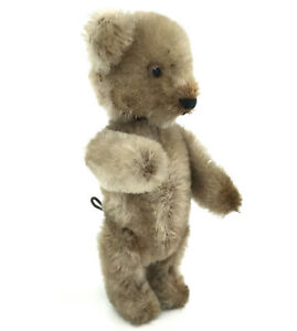 Schuco Mini Tricky Yes No Teddy Bear c1950s Mohair Plush over Metal 13cm 5in Vtg