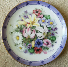 Danbury Mint Plate Doug Hague The Flowers Of France Bouquets Of The World Ec