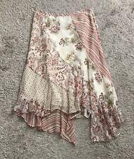 BCBG Max Azria Womens Size 4 Asymmetric 100% Silk Bohemian Print Skirt
