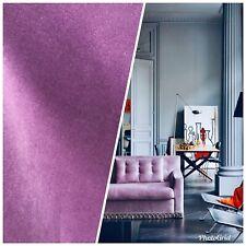 Designer Soft Velvet Upholstery Fabric - Lavender Purple- By the yard