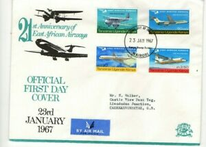 1967 KUT - EAST AFRICAN AIRWAYS 21st ANNIVERSARY FDC FROM COLLECTION X46
