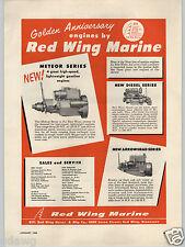 1955 PAPER AD Motor Boating Engines Red Wing Marine Diesel Motor Engine