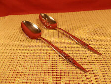 Oneida Stainless Flatware Lasting Rose Pat. Solid & Pierced Table Spoons 8 3/8""
