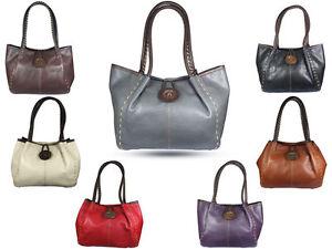 LADIES AND GIRLS DESIGNER MADE  FAUX LEATHER MEDIUM SHOULDER BAG BUTTON CLOSURE