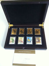 2009 Australia Songbird Collection Set - 9ct Gold Foil Stamps - In Plush Case