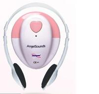 AngelSounds JPD-100S 3mhz fetal prenatal heart doppler ,w/gel and battery PINK