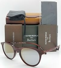 3546aa9a78 NEW Oliver Peoples Rue Marbeuf OV5353SQ 1601Y5 50 Round Red Blue Goldtone  Mirror