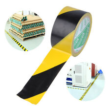 Black Yellow Roll Self Adhesive Hazard Safety Caution Band Warning Barrier Tape