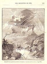 C1  JACOLLIOT Les MANGEURS DE FEU Relie ILLUSTRE Epuise 1890 AUSTRALIE SF RUSSIE
