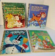 4 Christmas Little Golden Books Rudolph Frosty Poky Puppy My Christmas Treasury