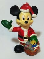 Vtg Mickey Mouse in Santa Suit Christmas Ornament The Walt Disney Co. 3-1/2""