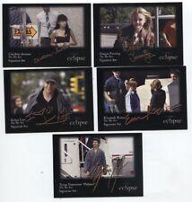 "Twilight Eclipse ""On the Set"" Signature Card Set (# 16 thru 20 )"