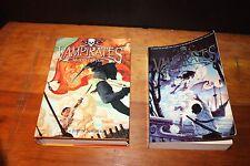 2 Justin Somper Vampirates Books: Blood Captain(2008, HC) & Tide of Terror, PB