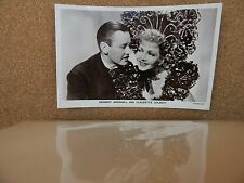 Herbert Marshall & Claudette Colbert film partners  Real Photograph Postcard xc2