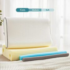 Memory Foam Pillow Cervical Contour Orthopedic Neck Support Pillow W/ Pillowcase