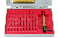 50 Pc 011 060 Class Zz Steel Pin Gage Set Minus Nist Certificate New A
