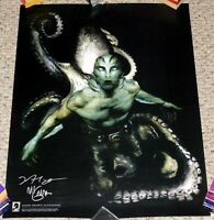 HELLBOY Abe Sapien The Drowning SIGNED Mike Mignola Alexander Poster Lithograph