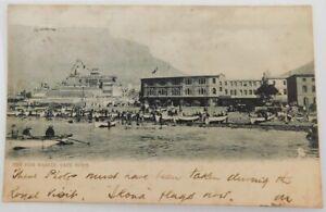 South Africa, Cape town, fish market, vintage postcard