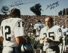 Oakland Raiders Fred Biletnikoff and Ken Stabler Autograph Reprint Signed Photo