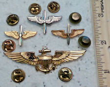 4 Military Aviator Wings Usaf Propeller Wings Pin Collar Badge Age Unknown