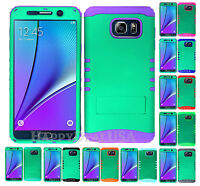 KoolKase Hybrid Silicone Cover Case for Samsung Galaxy Note 5 - Green (R)