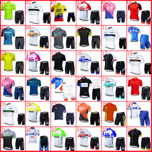 2021 Mens Cycling Team Bike Clothing Bicycle Jersey Tops and Padded Shorts Set