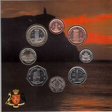 ISLE OF MAN - RARE 8 DIF BU COINS SET 1 PENNY - 2 POUNDS 2006 YEAR MINT PACKAGE