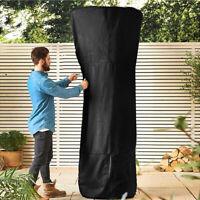 Outdoor Black Patio Gas Heater Cover UV Protector Garden Polyester Waterproof