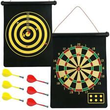 """16"""" MAGNETIC DART BOARD Dartboard Roll Up Darts Hang Indoor Fun Double Sided Toy"""