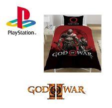Official God Of War Reversible Single Duvet Set Cotton Blend Play Station