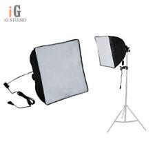 60x60cm Studio Light Softbox Umbrella + E27 Socket Light Lamp Bulb Head Lighting